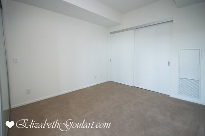 Master Bedroom With A Large Closet.