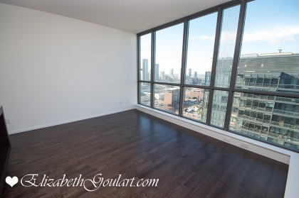 Spacious Sized Living /Dining Areas With Hardwood Flooring Throughout.