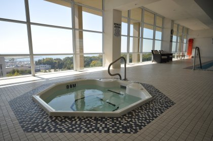 11th Floor Harbour Club Amenities. Indoor Pool & Jacuzzi Overlooking Lake And Park Views.