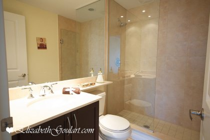 Master Bedroom 3-Piece Ensuite With A Upgraded Full Length Mirror & Frameless Glass Stand-Up Shower.