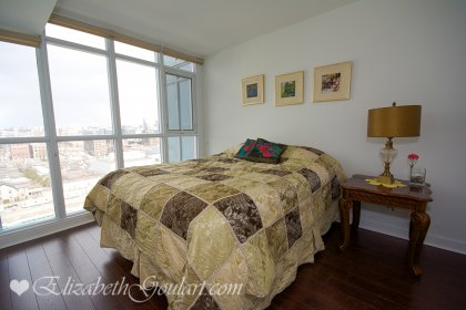 Spacious Sized Master Bedroom With A Large Closet Facing Unobstructed North City Views.