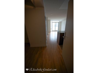 Suite Foyer With Laminate Flooring.