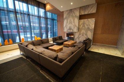Grand Lobby At The Charlie Condominiums.