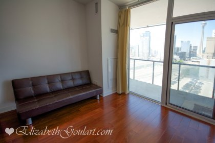 Bright Floor-To-Ceiling Windows With A Large Balcony Facing Unobstructed C.N. Tower & Lake Views.
