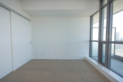 Spacious Sized Master Bedroom With A Large Closet.