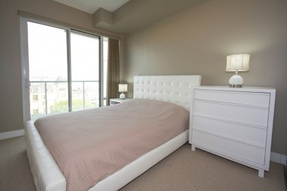 Spacious Sized Master Bedroom With A 3-Piece Ensuite & A Walk-Out Balcony Facing Park & Lake Views.