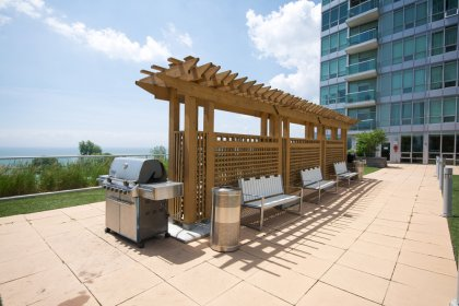 The 5Th Floor Outdoor Roof Top Terrace With A Huge Tanning Deck, Lounge - Play Area & B.B.Q's Facing Toronto�s Harbourfront.