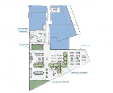 7th Floor Amenities Floor Plan.