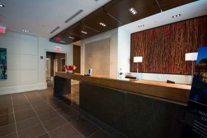 Grand Lobby With First Class 24 Hour Concierge With Valet & Porter Services.
