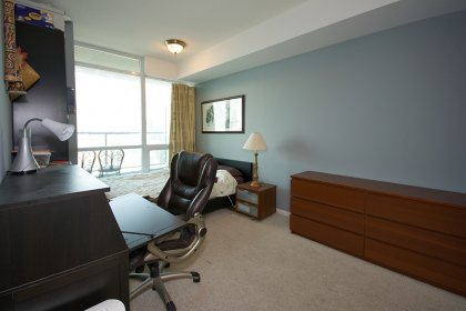 Spacious Sized Master Bedroom With A 4-Piece Ensuite & Double Mirrored Closets.