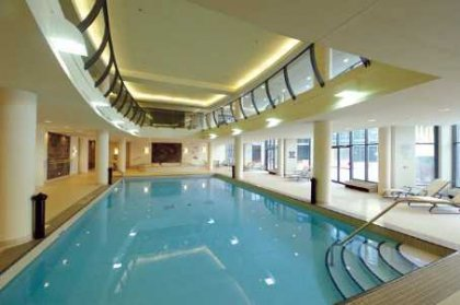 An Indoor Salt Water Pool With A Separate Jacuzzi, Lounge Area & Saunas.