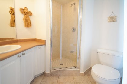 Main Bath With A 3-Piece & Stand Up Shower.