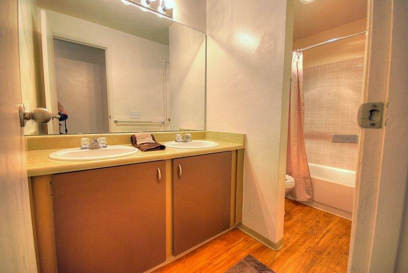 Spacious Main Bathroom With Double Sinks