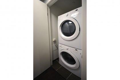 Large Full Sized Stacked Washer/Dryer.