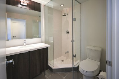 Main Bath With A 3-Piece Including Glass Stand-Up Shower.