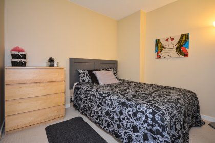 A Spacious Sized Den That Can Be Used As A 2nd Bedroom Or Home Office With A Private Sliding Door.