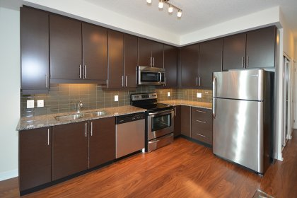 Designer Kitchen Cabinetry With Stainless Steel Appliances, Granite Counter Tops, Undermount Sink & Lighting.