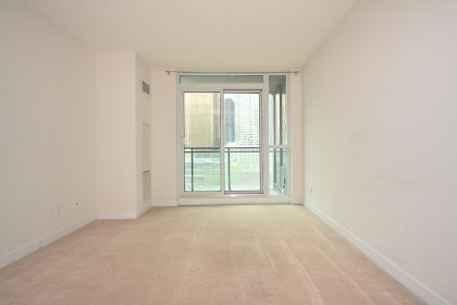 Open Concept Living & Dining Areas With Balcony C.N. Tower Views.