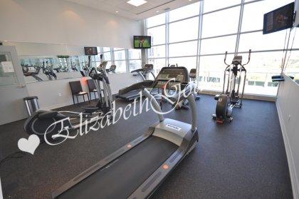 11th Floor Harbour Club Amenities. Fitness Area Overlooking Park Views.