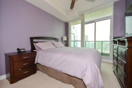 Spacious Sized Master Bedroom With A 4-Piece Ensuite, Mirrored Closets & A Walk-Out To The Balcony.