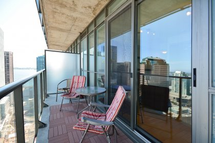 Enjoy Unobstructed City Views From The Large Balcony.