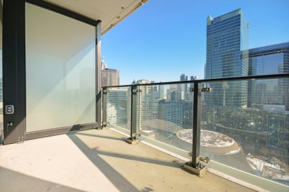 A Large Private Balcony With Gas Barbecue Hook-Up Overlooking Roy Thomson Hall & The Excitement Of King Street West.