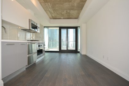 Bright 9Ft. Floor-To-Ceiling Windows With Hardwood Flooring Throughout Facing South Unobstructed City Views.