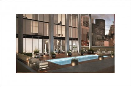 A Party Room & Outdoor RoofTop Pool With Tanning Deck Located On The 6th Floor.