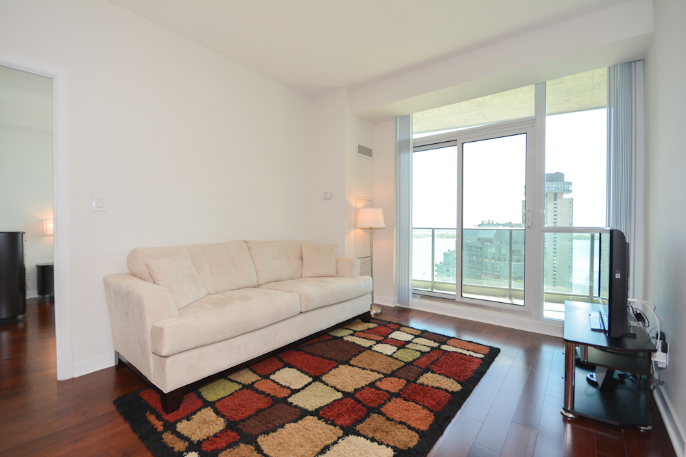 ... Bright 9 Foot Floor To Ceiling Windows With Gleaming Hardwood Flooring  Throughout Facing South ...