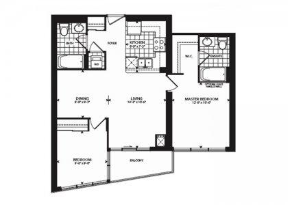 Suite Floor Plan Facing South Lake Views.