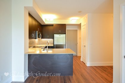 Designer Kitchen Cabinetry With Stainless Steel Appliances, Stone Counter Tops, Undermount Sink, Undermount Lighting & A Breakfast Bar.