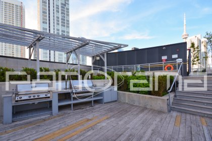 8th Floor Amenities - Roof Top Outdoor Tanning Deck / Lounge Areas With Barbecues & A Jacuzzi Hot Tub.