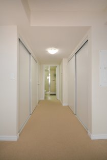 A Spacious Sized Master Bedroom With A 3-Piece Ensuite & Double Closets.