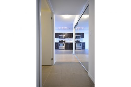 Suite Foyer With Mirrored Closets.
