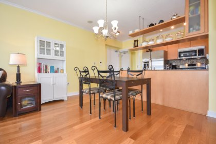 Open Concept Dining & Living Areas With New Hardwood Flooring Throughout.