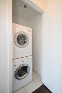 Laundry Area With Ample Storage.