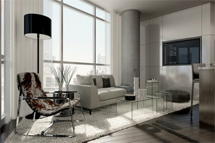 Bright Floor-To-Ceiling Wrap Around Windows With Gleaming Hardwood Flooring Throughout Facing C.N. Tower & City Views.
