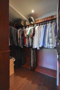 Master Bedroom Custom Walk-In Closet.