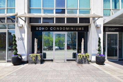 The Soho Condominiums Entrance Off 350 Wellington Street West.