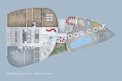 Mezzanine Level - Amenities Floor Plan.
