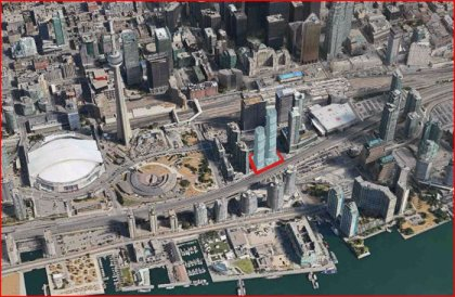 Map Overview Of The Ice Condos and It's Proximity To The Financial, Entertainment & Harbourfront Districts.