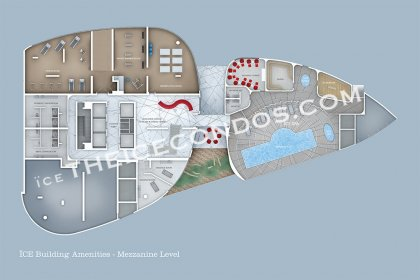 Mezzanine Level - Amenities Floor Plan.