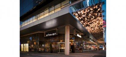 """Fine Dining at """"Elleven Restaurant"""" at Maple Leaf Square."""