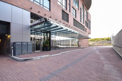 Entrance To The Market Wharf Condominiums At 1 Market Street.