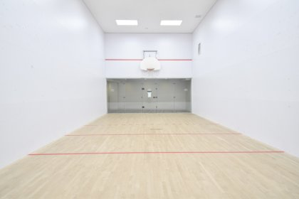 Indoor 1/2 Basketball / Squash Court.