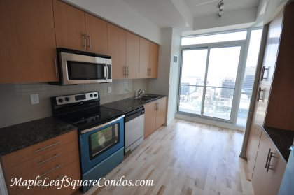 Designer Kitchen Cabinetry With Brand New Stainless Steel Appliances, Granite Counter Tops & An Eat-In Kitchen Area With A Walk-Out To The Balcony. Op