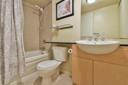 Main Bath With A 4-Piece & Granite Counter Tops.