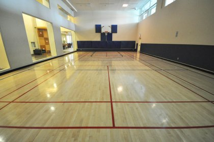 Gymnasium Accommodating A Half Basketball Court, Ping Pong, Volley Ball, Badminton, Soccer  & �Moms & Tots / Kids Gym� Activities & Sporting Events.