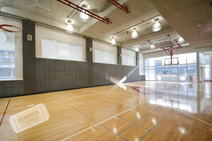 6th Floor Amenities Area - Full Sized Indoor Basketball Court.