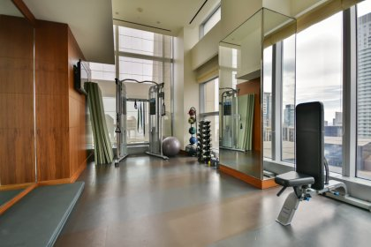 The Exclusive Residents-Only 21st Floor Fitness Area.
